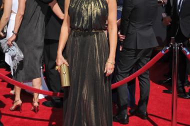 Bellamy Young of Scandal arrives for the 2014 Primetime Creative Arts Emmys.