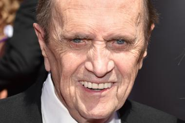 Bob Newhart of The Big Bang Theory arrives for the 2014 Primetime Creative Arts Emmys.