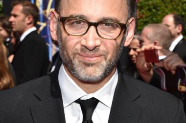 David Wain arrives for the 2014 Primetime Creative Arts Emmys.