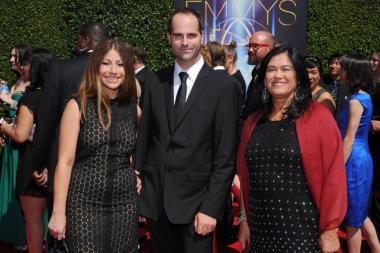 Erica Forstadt, David Cassidy and Barbara Kopple arrive for the 2014 Primetime Creative Arts Emmys.