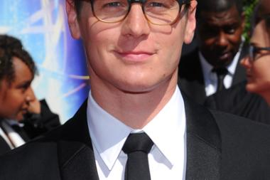Jonathan Groff of The Normal Heart arrives for the 2014 Primetime Creative Arts Emmys.