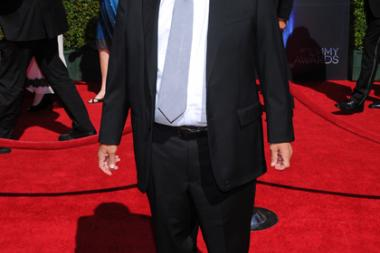 Henry Winkler arrives for the 2014 Primetime Creative Arts Emmys.