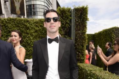 John Roberts on the red carpet at the 2015 Creative Arts Emmys.
