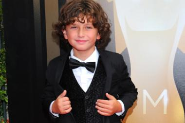 August Maturo arrives on the red carpet at the Creative Arts Emmy Awards 2015.