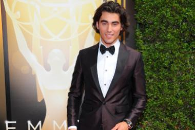 Blake Michael on the red carpet at the 2015 Creative Arts Emmys.