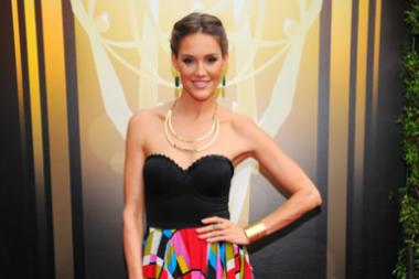 Erinn Hayes arrives on the red carpet at the Creative Arts Emmy Awards 2015.