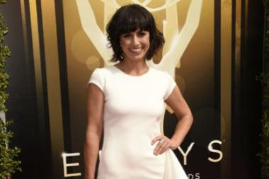 Constance Zimmer on the Red Carpet at the 2015 Creative Arts Emmys.