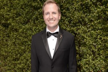 Maury McIntyre on the Red Carpet at the 2015 Creative Arts Emmys.