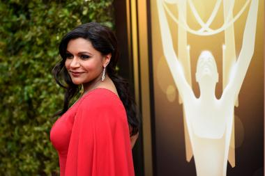 Mindy Kaling on the red carpet at the 2015 Creative Arts Emmys.