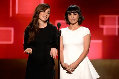 Shiri Appleby and Constance Zimmer at the 2015 Creative Arts Emmys.
