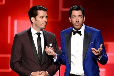 Jonathan Scott and Drew Scott presents award at the 2015 Creative Arts Emmy Awards.