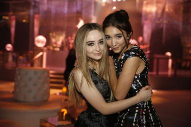 Sabrina Carpenter, left, and Rowan Blanchard attend the 2015 Creative Arts Ball.