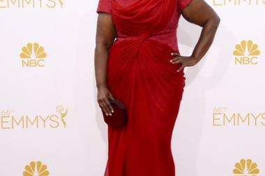 Octavia Spencer arrives at the 66th Emmy Awards.