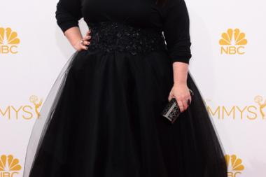 Melissa McCarthy of Mike & Molly arrives at the 66th Emmy Awards.