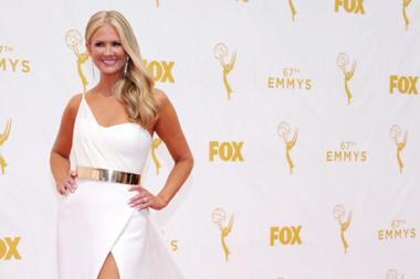 Nancy O'Dell on the red carpet at the 67th Emmy Awards.