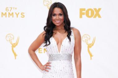 Tracey Edmonds on the red carpet at the 67th Emmy Awards.