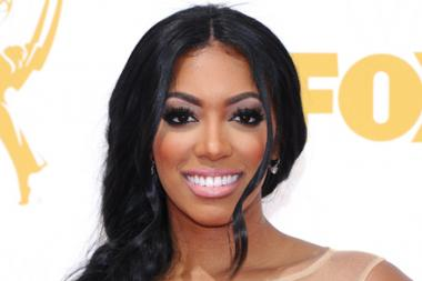 Porsha Williams on the red carpet at the 67th Emmy Awards.