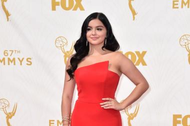 Ariel Winter on the red carpet at the 67th Emmy Awards.