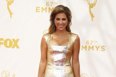 Liz Hernandez on the red carpet at the 67th Emmy Awards.