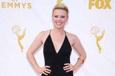 Kate McKinnon on the red carpet at the 67th Emmy Awards.