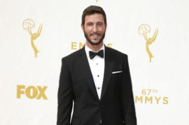 Pablo Schreiber on the red carpet at the 67th Emmy Awards.