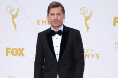 Nikolaj Coster-Waldau on the red carpet at the 67th Emmy Awards