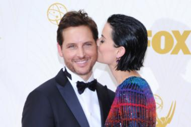 Peter Facinelli and Jaimie Alexander on the red carpet at the 67th Emmy Awards.