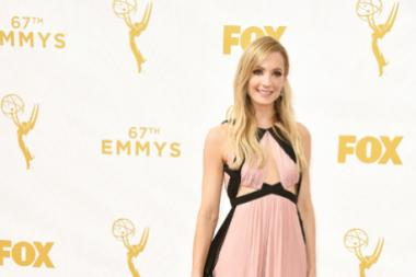 Joanne Froggatt on the red carpet at the 67th Emmy Awards.
