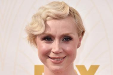 Gwendoline Christie on the red carpet at the 67th Emmy Awards.