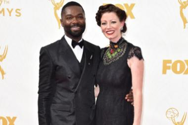 David Oyelowo and Jessica Oyelowo on the red carpet at the 67th Emmy Awards.