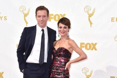 Damian Lewis and Helen McCrory on the red carpet at the 67th Emmy Awards.