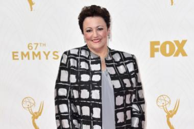Barbara Rosenblat on the red carpet at the 67th Emmy Awards.