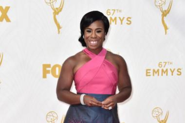 Uzo Aduba on the red carpet at the 67th Emmy Awards.