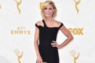 Julie Bowen on the red carpet at the 67th Emmy Awards.