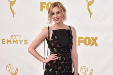 Laura Carmichael on the red carpet at the 67th Emmy Awards.