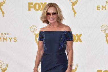 Jessica Lange on the red carpet at the 67th Emmy Awards.