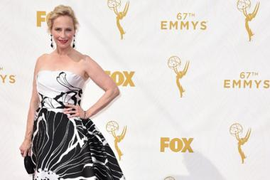 Laila Robins on the red carpet at the 67th Emmy Awards.