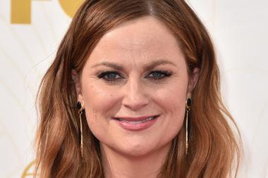 Amy Poehler on the red carpet at the 67th Emmy Awards.