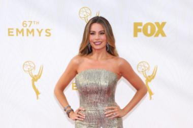 Sofía Vergara on the red carpet at the 67th Emmy Awards.