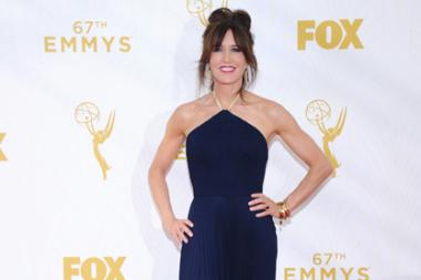 Felicity Huffman on the red carpet at the 67th Emmy Awards.