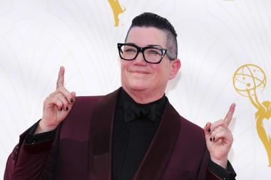 Lea DeLaria on the red carpet at the 67th Emmy Awards.