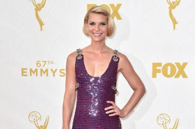 Claire Danes on the red carpet at the 67th Emmy Awards.