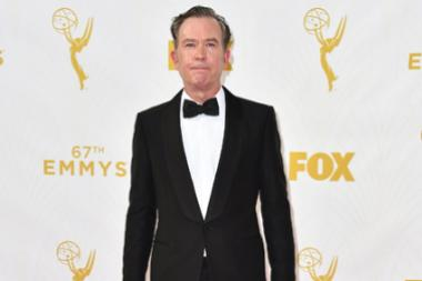 Timothy Hutton on the red carpet at the 67th Emmy Awards.