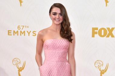 Maisie Williams on the red carpet at the 67th Emmy Awards.