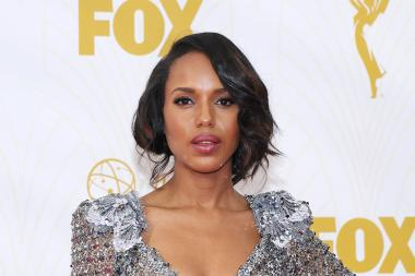 Kerry Washington on the red carpet at the 67th Emmy Awards.