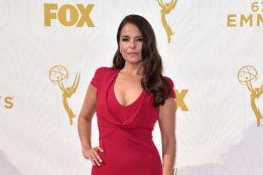 Yara Martinez on the red carpet at the 67th Emmy Awards.