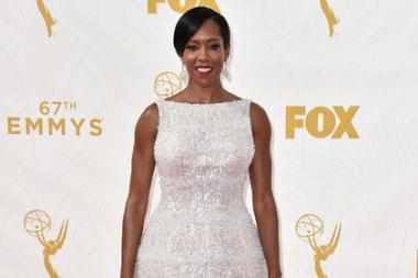 Regina King on the red carpet at the 67th Emmy Awards.