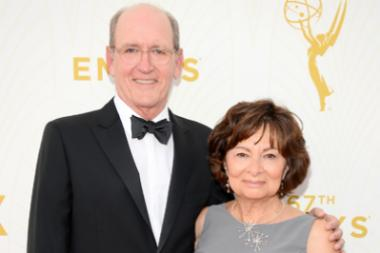 Richard Jenkins and Sharon R. Friedrick on the red carpet at the 67th Emmy Awards.
