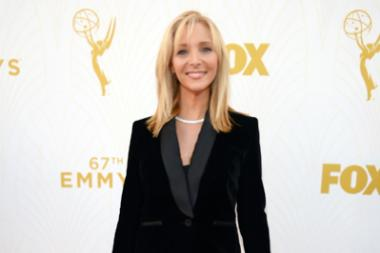 Lisa Kudrow on the red carpet at the 67th Emmy Awards.