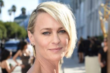 Robin Wright on the red carpet at the 67th Emmy Awards.